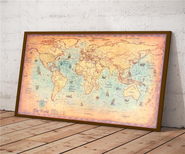 Vintage Wereldkaart AliExpress - Producten uit China bestellen