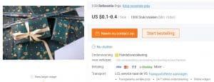 Alibaba productpagina - Chinese Webshops