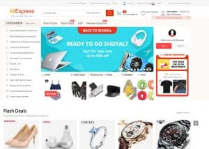 AliExpress Homepage - Chinese Webshop Tips