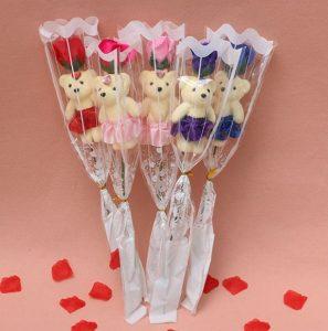 Valentijns roos met beer AliExpress
