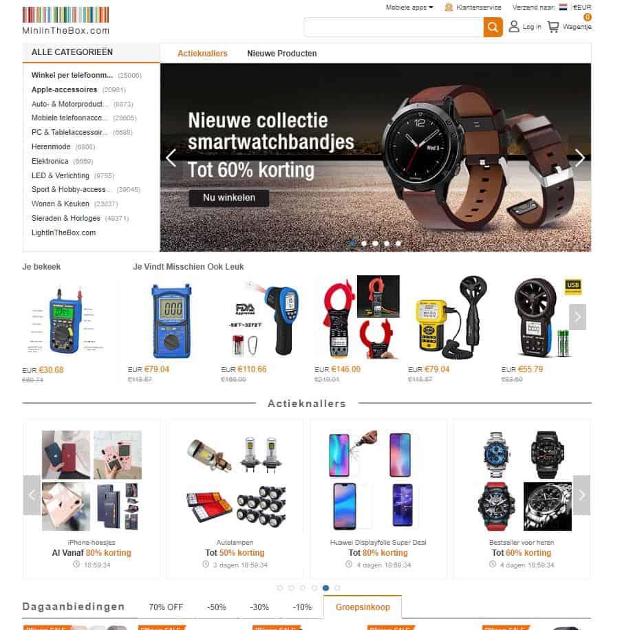 MiniInTheBox Webshop