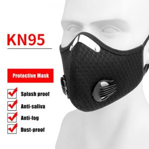Zwart KN95 Mondmasker / Mondkapje met FFP3/FFP3 Filter uit China van AliExpress