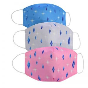 Uitwasbaar Trendy Fashion Mondkapje/Mondmasker met Print gemaakt van Stof/Katoen - Zwart/Funny/Grappig/Kinderen