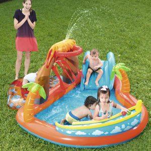 Opblaasbaar Zwembad met Glijbaan voor Kinderen